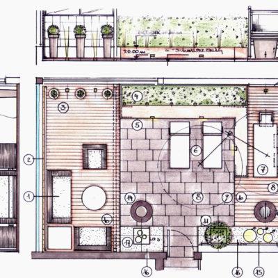 Dachterrasse Mit 3 Sitzbereichen